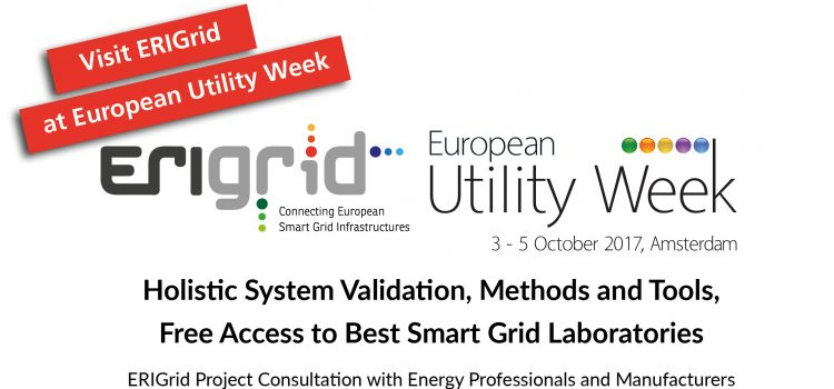 Attend ERIGrid Session at European Utility Week