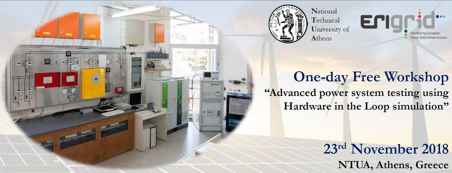 """Join the ERIGrid Workshop """"Advanced power system testing using Hardware in the Loop simulation"""""""