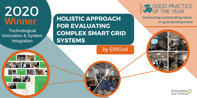 ERIGrid Receives Award for Holistic Approach for Evaluating Complex Smart Grid Systems